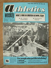 ATHLETICS WEEKLY JULY 10th 1976 BRUCE JENNER USA DECATHLON