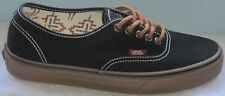 MEN'S VANS AUTHENTIC T&G BLACK/GUM ATHLETIC SHOES SIZE 6