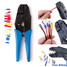 Ratcheting Wire Terminal Hand Crimp Crimping Tool Crimper Electrical Cable Wire