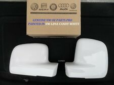 GENUINE & NEW VW CADDY WING MIRROR COVERS R/H-L/H LB9A CANDY WHITE 03 - 16