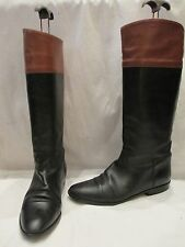 VINTAGE BALLY LEATHER MID HEIGHT RIDING STYLE BOOTS UK 7 EU 40 (649)