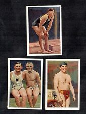 Swimmers Josetti 1930 German Card Mini Set Sport Swimming Luber Rademacher Vierk