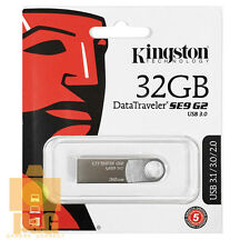 New Kingston 32GB DataTraveler SE9 G2 USB 3.0 Flash Pen Drive Memory Keychain