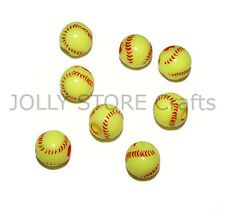 SoftBall Beads 60pc for school sports jewelry necklaces bracelets kids crafts