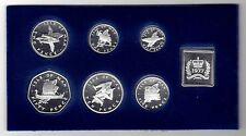 ISLE OF MAN - PROOF 6 DIF COINS SET: 1/2 - 50 PENCE 1977 YEAR + MEDAL + COA +BOX