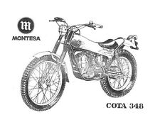 MONTESA Cota 348 PARTS MANUAL w/ Detailed Exploded Diagrams for 348c Motorcycles