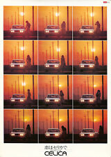 Original Vintage Poster Toyota Celica Sunset Car Automobile 1970 Japan Shinoyama