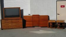 5PC Mid CenturyModern Bedroom Set Renzo Rutili for Johnson Furniture Dresser MCM