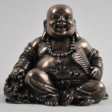 FABULOUS SMALL COLD CAST BRONZE BUDDHA SITTING STATUE ORNAMENT NEW & BOXED 33800