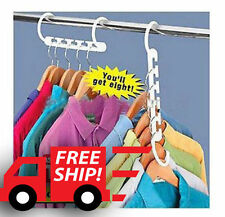8 pcs Wonder Magic Hanger Clothes Closet Organize Hook FREE SHIPPING