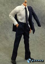 █ ZY TOYS 1/6 Blue Suit for Custom Narrow Shoulder Body Shirt Hot Men █