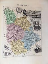 LA FRANCE ET SES COLONIES DÉPARTEMENT DE LA VIENNE EDT 1874 VOIR DETAIL