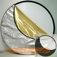 """60cm 23"""" 5-in-1 Light Mulit Collapsible disc Reflector"""