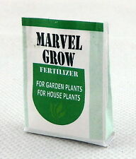 Dolls House Miniature Garden Accessory Bag of Marvel Grow Plant Food Fertilizer
