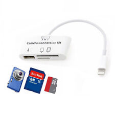 New 3 in 1 USB Camera Connection Kit SD Card Reader Adapter For iPad 4 ipad Mini