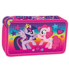 My Little Pony FILLED Double Pencil Case Stationery School MLP Girls