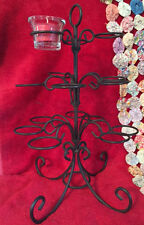 Wrought Iron Table Top Votive Candle Holder Centerpiece Holds 15 Candles Nice!
