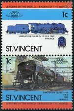 1945 SNCF Liberation Class 141-R (2-8-2) France Train Stamps / LOCO 100