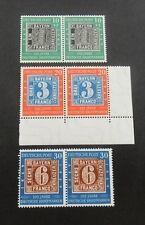 Bund, 113 - 115 ** 100 J. Briefmarken  waag. Paare Eckrand geprüft Schlegel