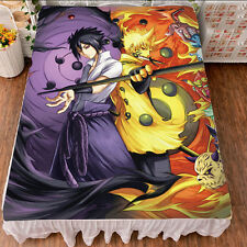 New Japanese Anime Naruto Uzumaki Sasuke Uchiha Bed Sheet Blanket #Ka46