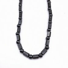 Men Women's Black Magnetic Hematite Stone Hexagon Beads Necklace 18""