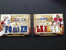 #/18 Andrew Luck & Robert Griffin 2013 TOPPS Triple Threads Dual Auto Patch