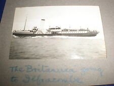 Old amateur photograph Britannia steam ship en route Ilfracombe c1930s Ref 5abc8