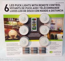 Capstone Lighting - 6 LED Puck Lights With Remote Control - New In Package