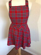 BOOHOO Tartan Check Pinafore Dress UK12