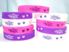 neuf 24 x violetta blanc/violet/rose silicone Les bracelets de fêtes d'enfants