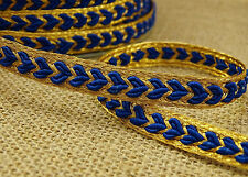 Metallic Gold Sewing Braid Trim 7 Mm Thin Edging Lace  Supplies Craft 18 Yard