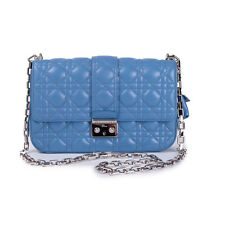 Miss Dior Light Cobalt Lambskin Flap Bag