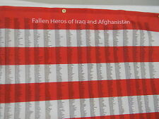 Fallen Heroes Flag of Iraq and Afghanistan who made the ultimate sacrifice