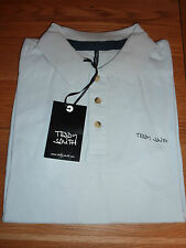 TEDDY SMITH T-Shirt Mens S/S Polo T-Shirt PINSTER PIQUE MC BABY BLUE SIZE M