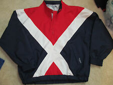 RED WHITE BLUE TOURNEY UNION JACK GORE TEX WATERPROOF RAIN GEAR GOLF JACKET-XL