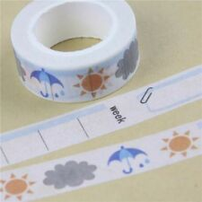 Weather Sun Rain Storm Planner Washi Tape Decorative Scrap Book Craft 15mm x 10m