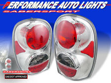 2002-2007 JEEP LIBERTY ALTEZZA STYLE TAIL LIGHTS CHROME BULBS INCLUDED PAIR