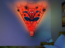 Wild Walls SPIDERMAN wall stickers 15 decal with LIGHT & SOUNDS Marvel superhero