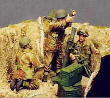 Resicast 1:35 WWII US Paratrooper 3 Inch Mortar & Crew - 4 Resin Figures #355509