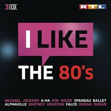 RTL I LIKE THE 80S MICHAEL JACKSON/A-HA/KIM WILDE/SPANDAU BALLET/+  3 CD NEU