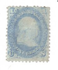 Scott 92 Early US Stamp..1c Franklin...VF  1861-62... F Grill