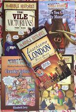 Lot of 5 Horrible Histories: London, Stuarts, Victorians, Colonials, Mammoth PB