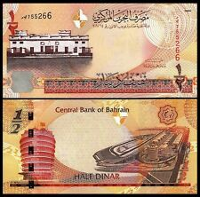 BAHRAIN 1/2 DINAR 2006 (2008) UNCIRCULATED P.25
