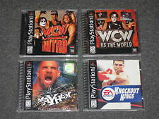 LOT 4 Playstation 1 (wcw nitro/wcw vs the world/mayhem/knockout kings) ps1 games