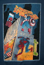 2010 Marvel Comics Amazing Spiderman & Captain America Classic T-Shirt New Large