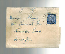 1941 GG Mielce Poland Censored Cover to Norwich Connecticut USA
