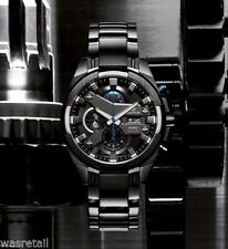 Casio Edifice EFR-540BK-1A  Black Ion Plated Chrono Mens Watch (1/20 sec chrono)