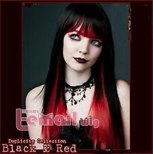 Lolita cos wig black and red color mixing the double gradien wigs+ free hairnet