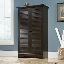 Sauder 416797 Harbor View Storage Cabinet Antiqued Paint Finish NEW