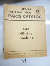 International IH 403 Combine Parts Catalog Manual HT-44 1966